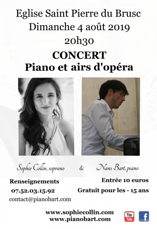 Concert Le Brusc, piano et chant