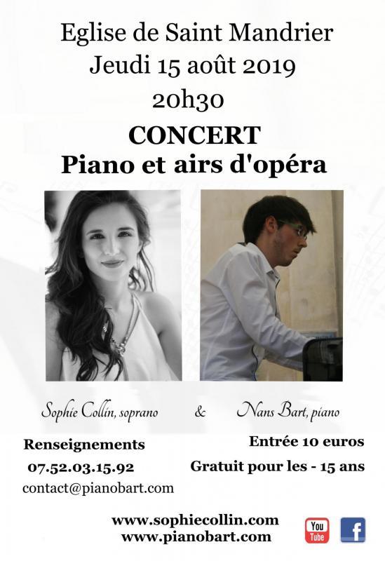 Concert à Saint-Mandrier le 15 août 2019, piano et chant