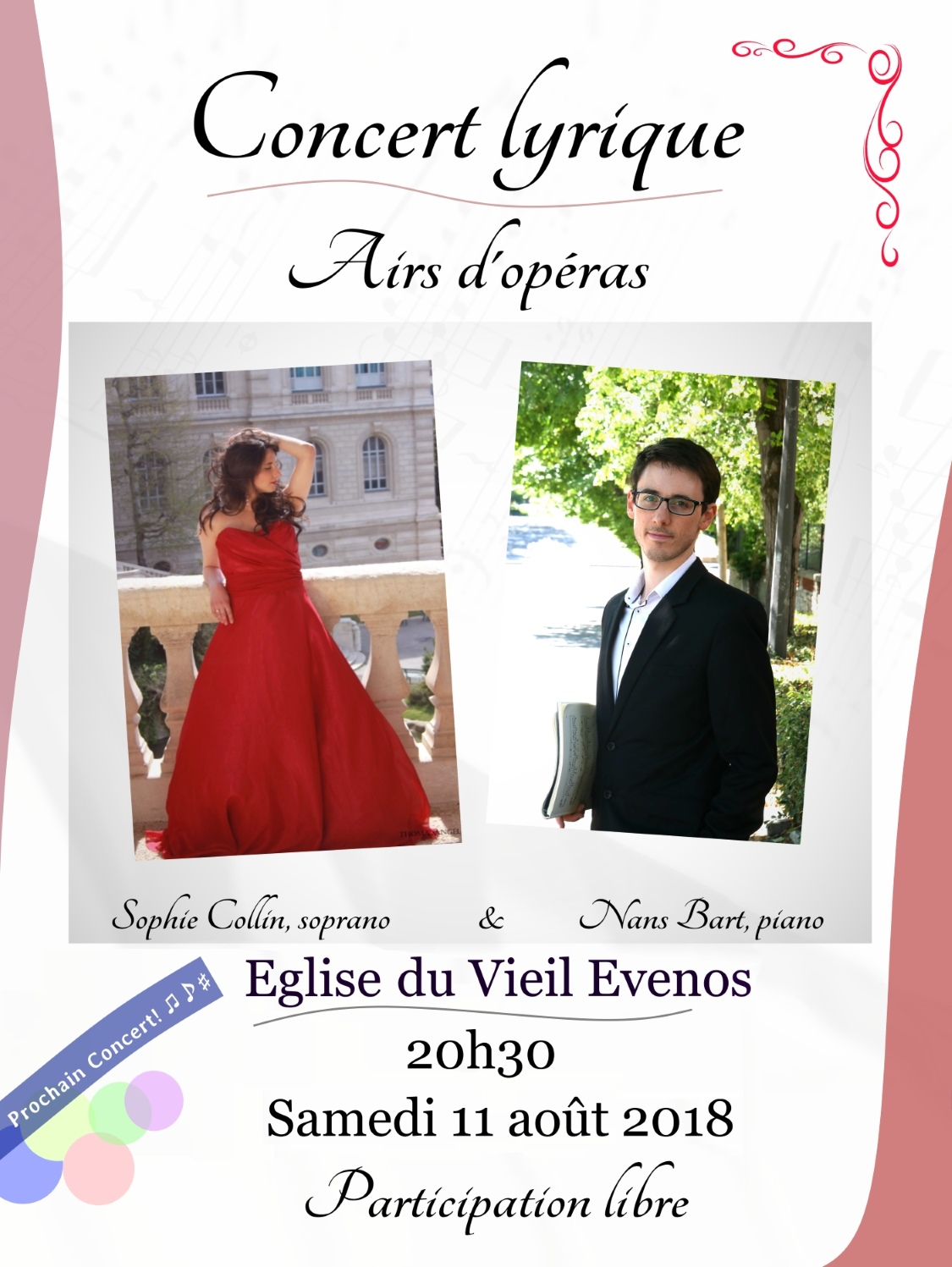 Concert à Evenos le 11 août 2018 à 20h30