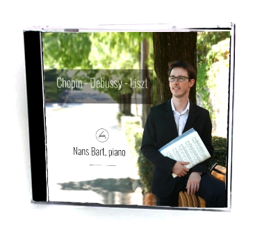 Album CD Nans Bart, piano / Chopin, Debussy, Liszt