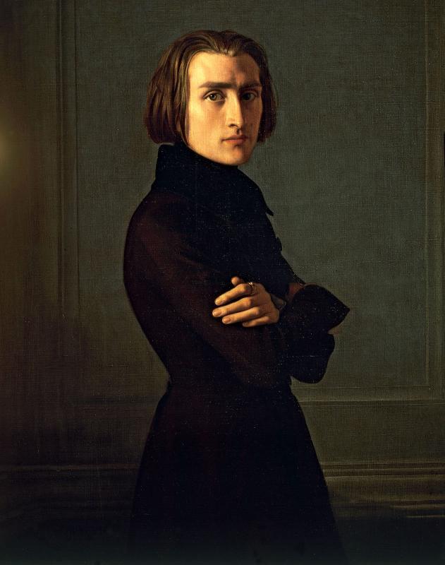 Liszt / Portrait par Lehmann / ©Nans Bart pianiste, www.pianobart.com