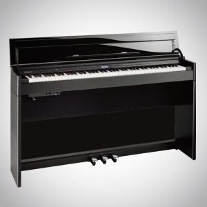 Piano droit Roland numérique, laqué noir