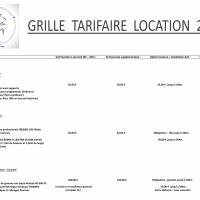 Grille tarifaire 2016